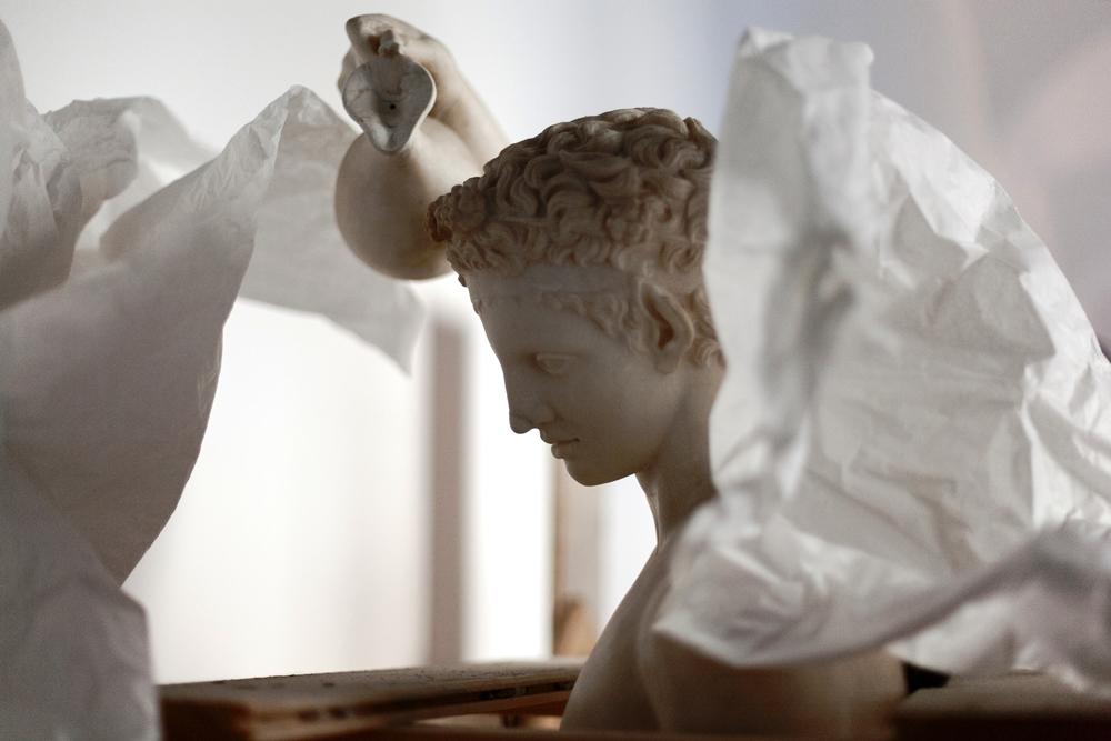 Satiro versante_ Copia di età romana in marmo dell'originale bronzeo di Prassitele