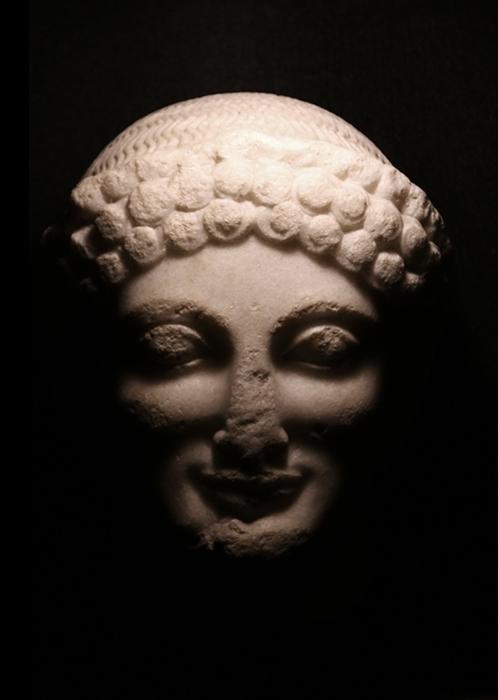 Kouros di Lentini, part. del volto, V sec. a.C. - Ph. Giovanni Dell'Orto