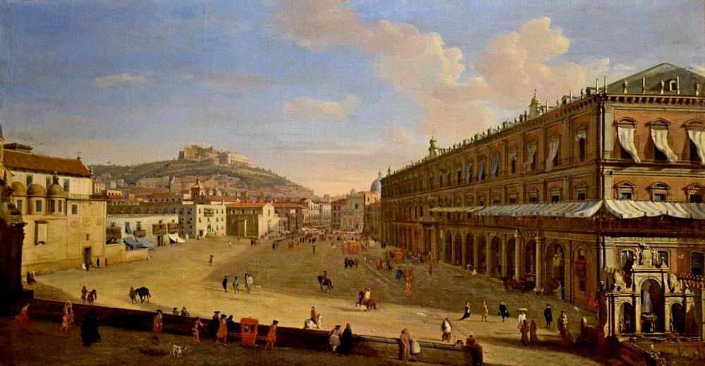 Il Palazzo Reale di Napoli in un dipinto settecentesco di Gaspar van Wittel