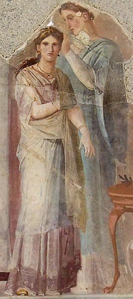 Vestizione di una sacerdotessa (o sposa), affresco da Ercolano