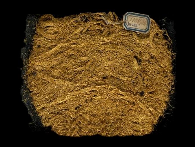 Tessuto in filo d'oro, Pompei - Museo Archeologico Nazionale, Napoli
