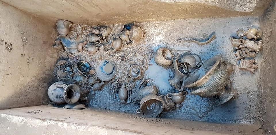 Scorcio della tomba messapica ritrovata a Muro Leccese, IV sec. a.C.