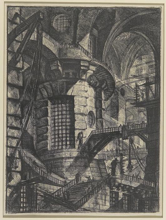 Giovanni Battista Piranesi, Carceri d'Invenzione, Torre circolare, 1761