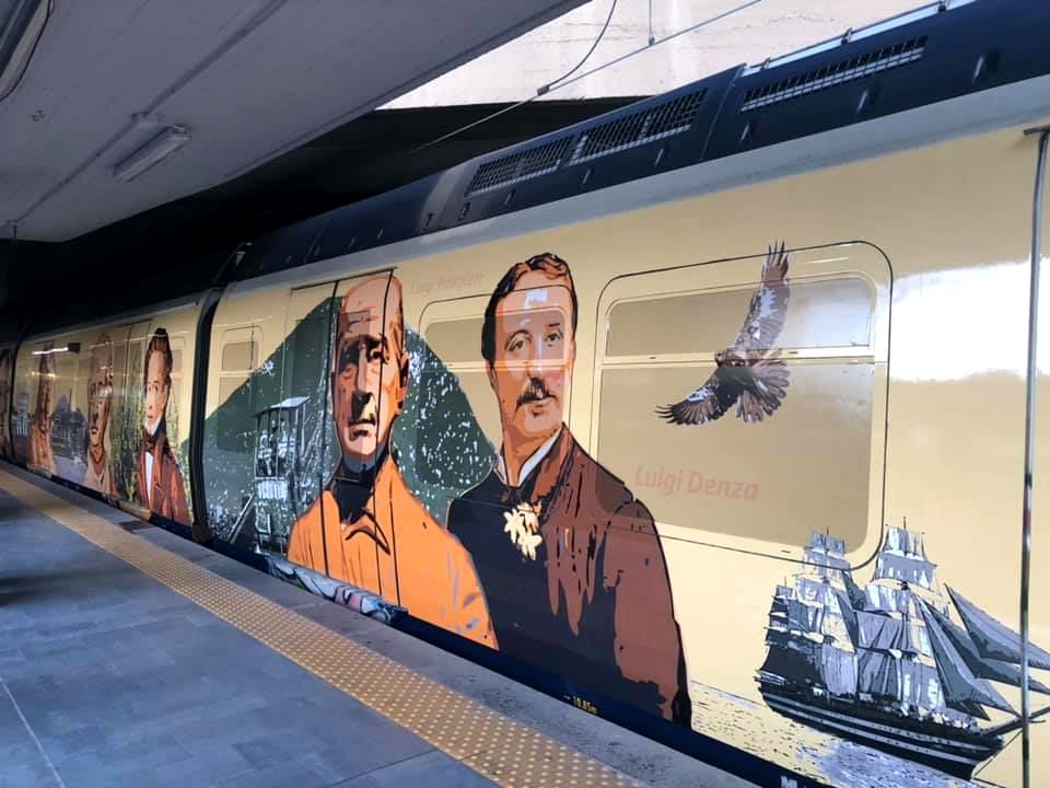 Il treno della Circumvesuviana dedicato ai personaggi legati all'area vesuviana