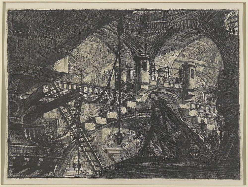 Giovanni Battista Piranesi, Carceri d'invenzione: arcata ornata da conchiglie