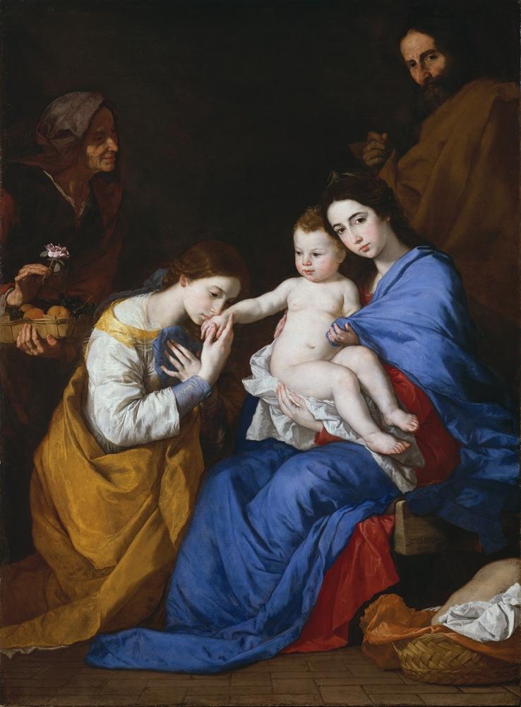 Jusepe de Ribera, Sacra Famiglia con Sant'Anna e Santa Caterina d'Alessandria, 1648
