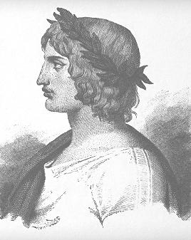 Virgilio-mago in un'antica incisione
