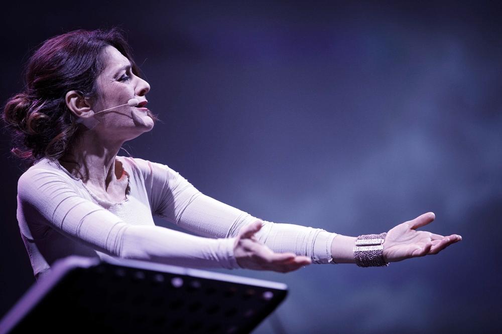 La cantante Cristina Zavalloni durante il concerto 'Libero è il mio canto' all'Auditorium Parco della Musica, Roma - Image by Musadoc