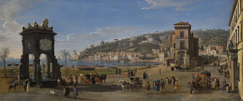 Gaspare Vanvitelli, Napoli. Veduta della Riviera di Chiaia - Coll. Lampronti, Londra