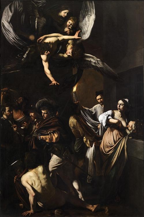 Caravaggio, Sette opere di Misericordia, 1606-1607, Pio Monte di Misericordia, Napoli