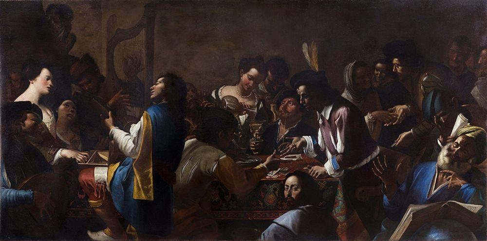 Gregorio e Mattia Preti, Allegoria dei cinque sensi, 1642-1646 ca., Roma, Gallerie Nazionali di Arte Antica, olio su tela