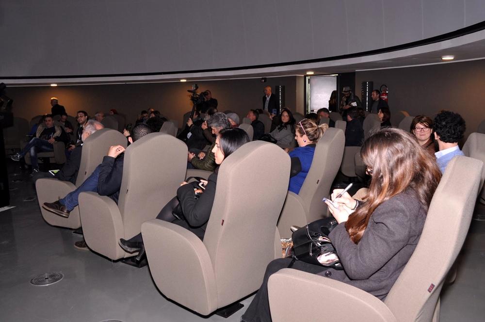 I posti a sedere nella sala semisferica, Planetario di Cosenza
