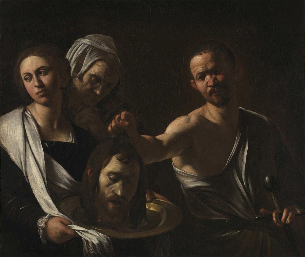 Caravaggio, Salomé con la testa di Battista, 1607-1610, The National Gallery, Londra