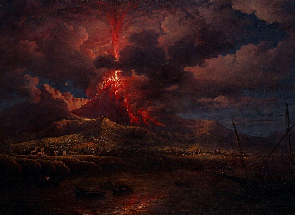 William Marlow, Eruzione notturna del Vesuvio, 1768 (riferibile all'eruzione del 1766) - Denver Art Museum