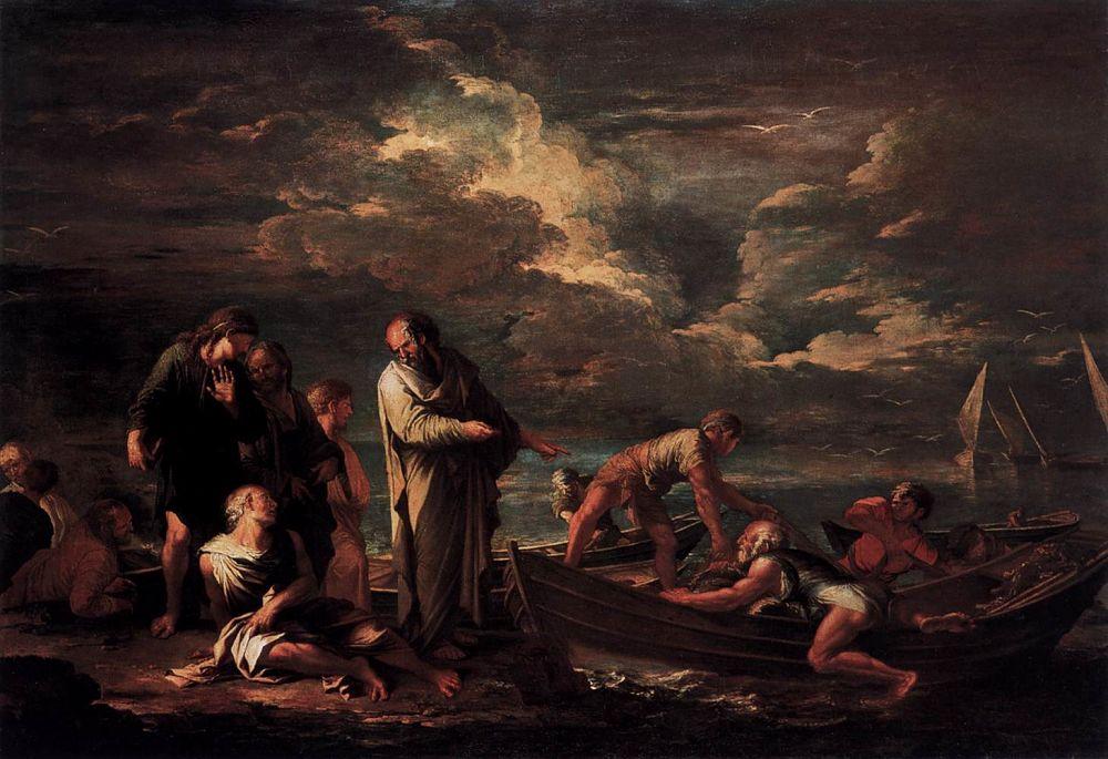 Salvator Rosa, Pitagora e i pescatori, 1662, Gemldegalerie, Berlino