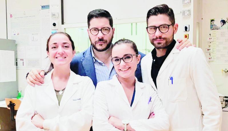 Il Prof. Tommaso Angelone, Carmine Rocca, Teresa Pasqua e Maria Concetta Granieri