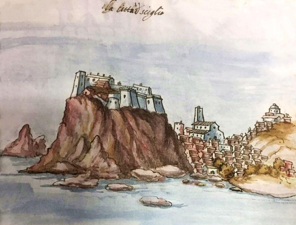 La città di Sciglio (odierna Scilla, RC) - Codice Romano-Carratelli, cellezione privata