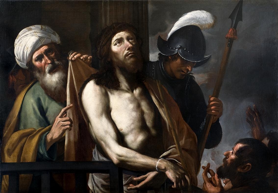 Gregorio Preti, Cristo mostrato al popolo, 1645-1655, olio su tela, Torino, collezione privata