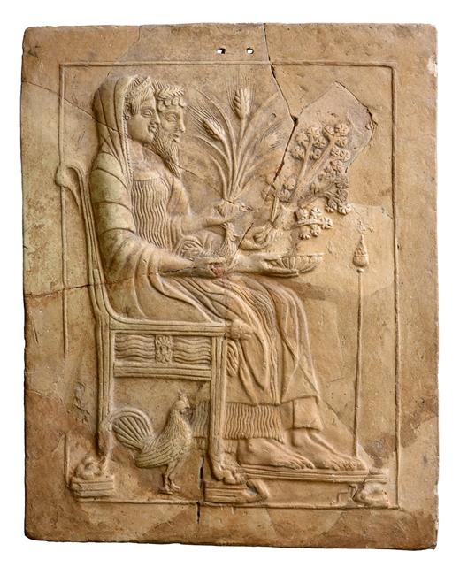 Pinax con Ade e Persefone in trono, V sec. a.C., Locri, Museo Archeologico Nazionale di Reggio Calabria