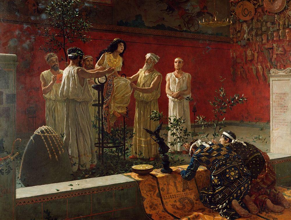 Camillo Miola, Oracolo di Delfi, XIX sec., Getty Museum