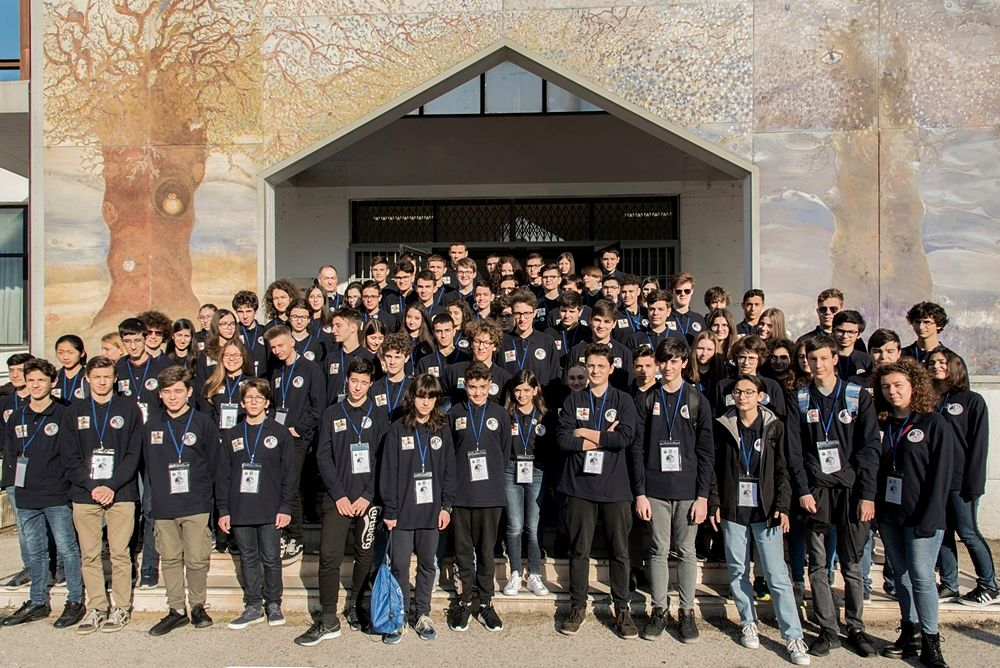 Gli studenti partecipanti alla finale nazionale delle Olimpiadi di Astronomia, a Matera - Ph. Giulia Iafrate