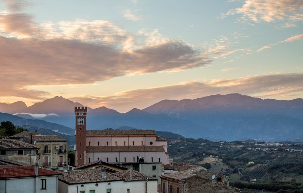 Veduta di S. Marco Argentano (Cs) al tramonto - Ph.