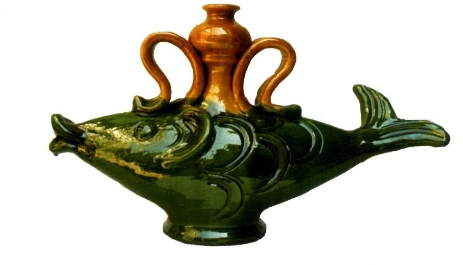 Giuseppe Ferraro, vaso a pesce, ceramica di Seminara (RC) - Comune di Seminara
