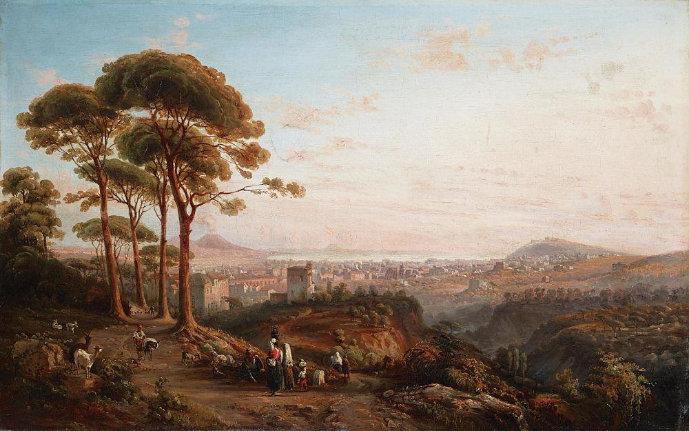 Giacinto Gigante, Veduta di Napoli da La Conocchia, olio su tela, 1876 ca., Coll. privata