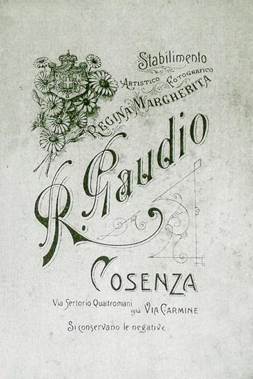 Il logo dello Stabilimento fotografico di Raffaele Gaudio a Cosenza