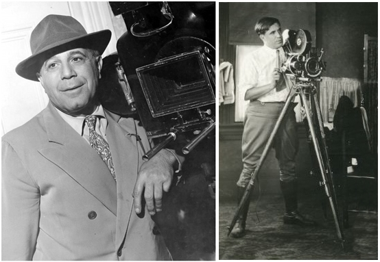 Tony ed Eugene Gaudio fotografati sul set
