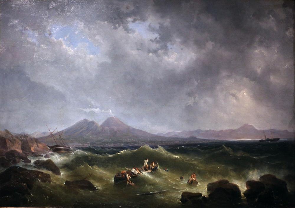 Salvatore Fergola, Tempesta nel Golfo di Napoli, olio su tela, 1848-59, Coll. Banca Commerciale Italiana, Palazzo Zevallos Stigliano, Napoli