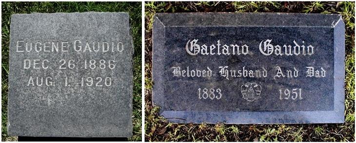 Le tombe dei fratelli Eugenio e Antonio Gaetano Gaudio all'Hollywood Forever Cemetery