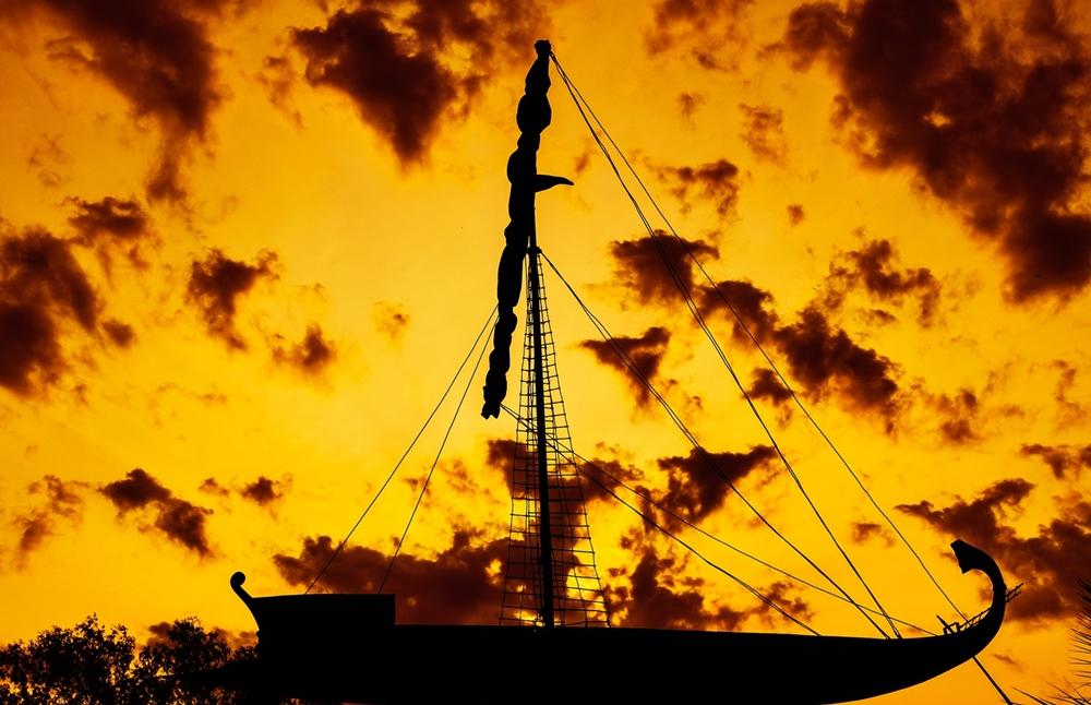 Ricostruzione di antica nave greca