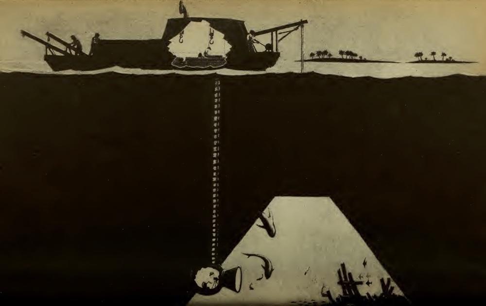 La 'photosphere' per le riprese subacquee di  20,000 Leagues Under the Sea (1916)