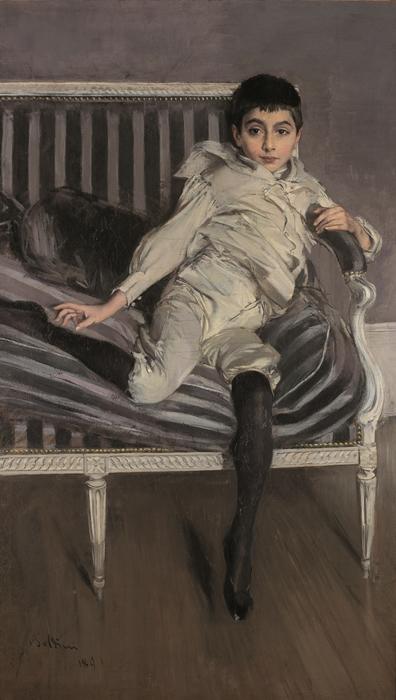 Giovanni Boldini, Ritratto del piccolo Subercaseaux,  1891, olio su tela, Ferrara, Museo Giovanni Boldini