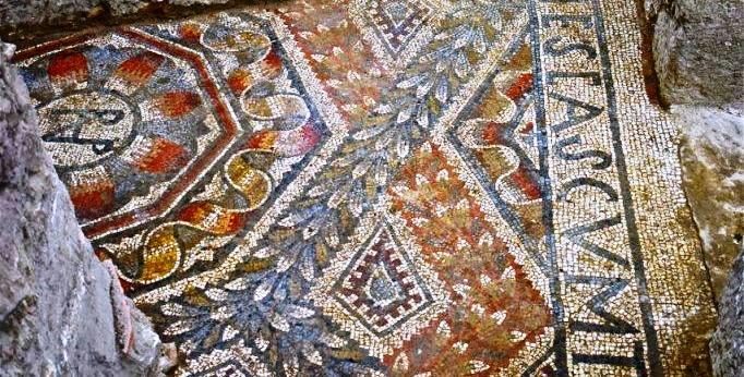 Mosaico deilla romana di C.da Gerace, a Enna, IV sec. d.C.