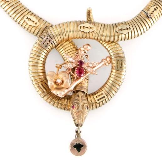 Collare a serpente, oro, inizi XX sec. | Collezione Spadafora