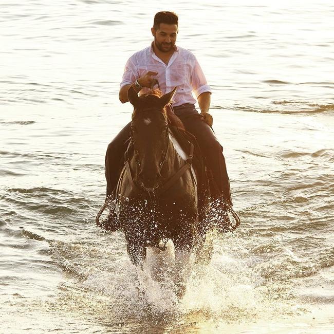 Stefano Battista a cavallo in Calabria