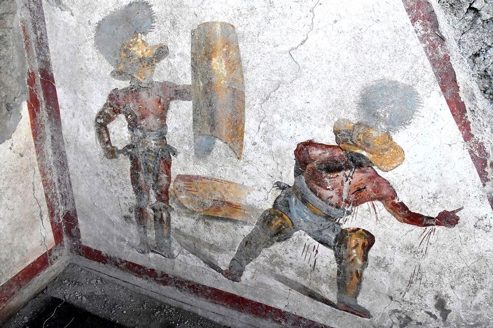 Scorcio della scena gladiatoria, Pompei, Regio V