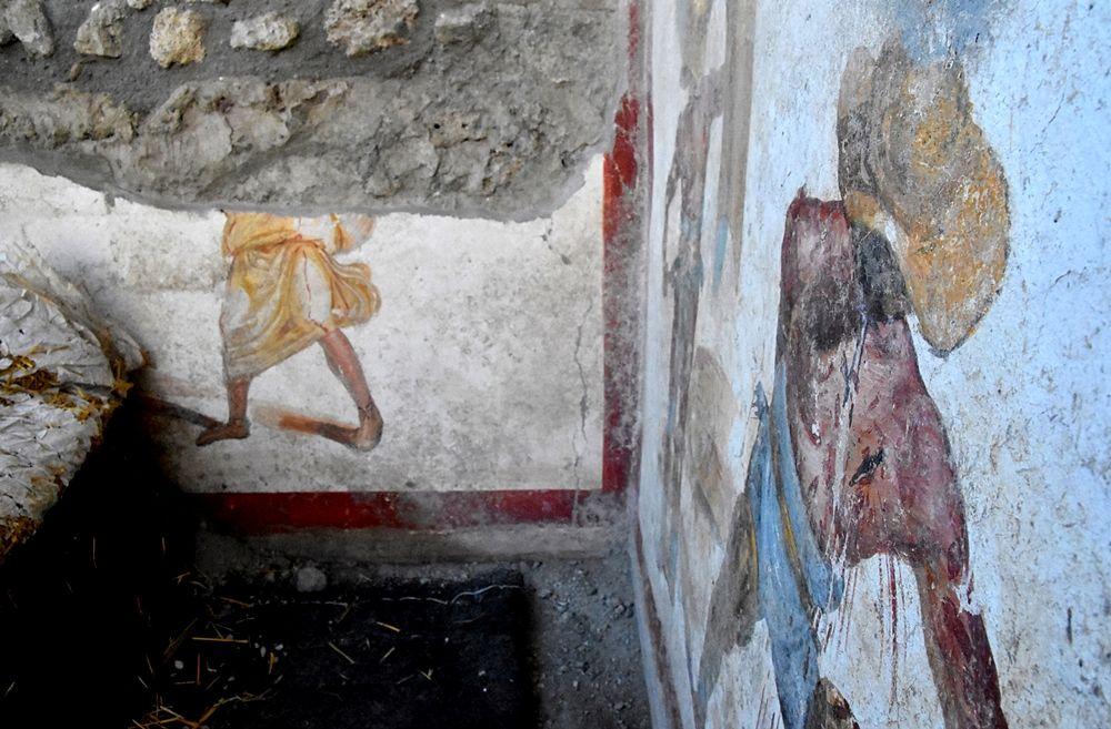 Scorcio dell'ambiente - forse una locanda per gladiatori - in cui è stato rivenuto l'affresco