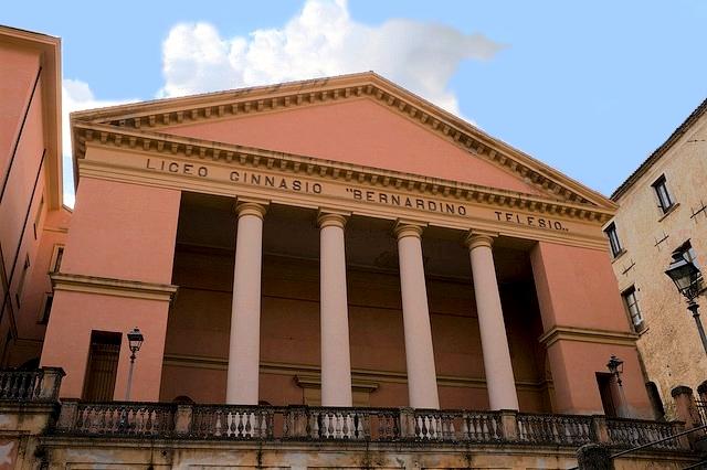 La sede storica del Liceo Classico 'Bernardino Telesio' di Cosenza