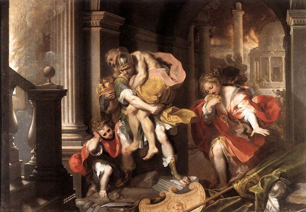 Federico Barocci, Fuga di Enea da Troia, 1598, Galleria Borghese, Roma