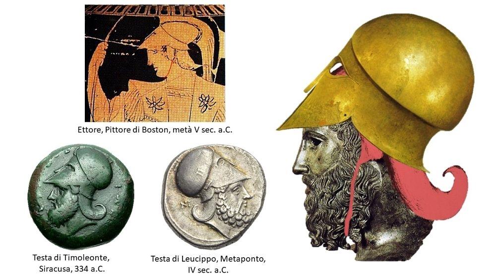 Raffronti archeologici sul gruppo di elementi: praorecchie, paranuca e sottogola.