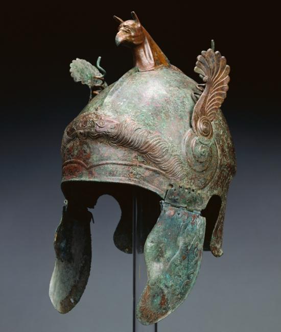 Elmo di tipo Calcidico, 350-300 a.C., Getty Museum, Los Angeles - Image by Getty's Open Content Program