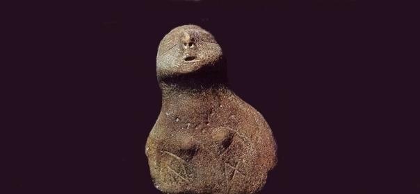 La stutuina della 'grande madre' di Passo di Corvo, 6000 a.C., Museo Archeologico di Manfredonia (Fg)