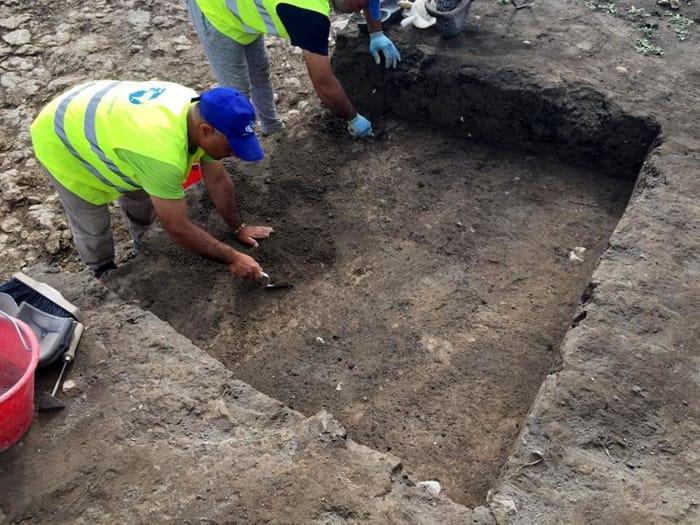 Scorcio del sito neolitico di Piscioli, a Candela (Foggia)