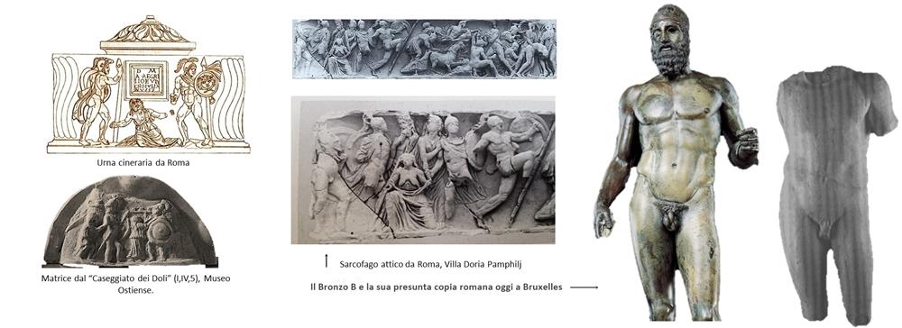 Reperti ispirati ai Fratricidi di Pitagora di Reggio e presunta copia romana del Bronzo B