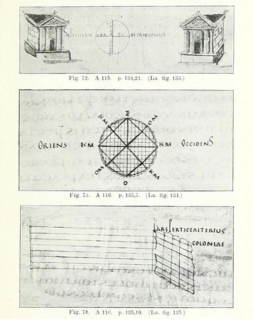 Illustrazioni sull'attività dei gromatici tratte dai testi medievali