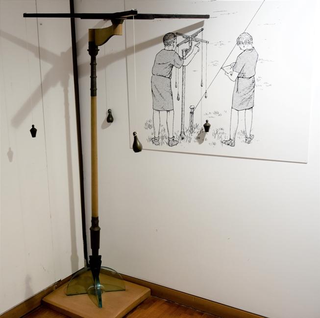 Ricostruzione Groma per Mostra Homo Faber presso Antiquarium di Boscoreale