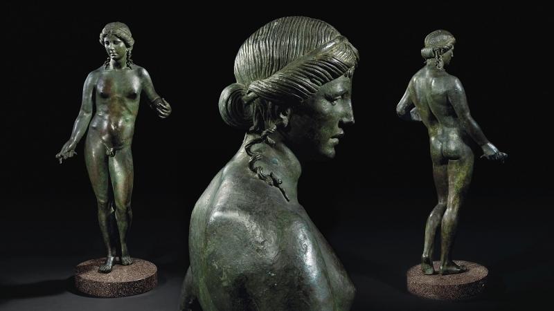 L'Apollo citaredo visto da diverse angolazioni, bronzo, II-I sec. a.C.
